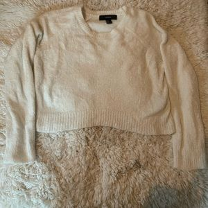 White cropped sweater from Forever 21